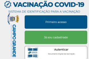 Cadastro Vacinação Campo Grande MS